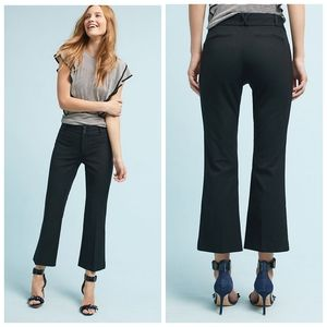 Anthropologie Crop Flare Essential Trouser Pants